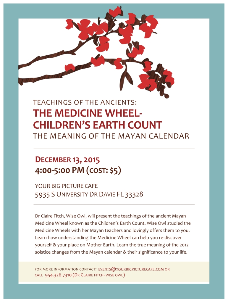 medicine wheel talk flyer